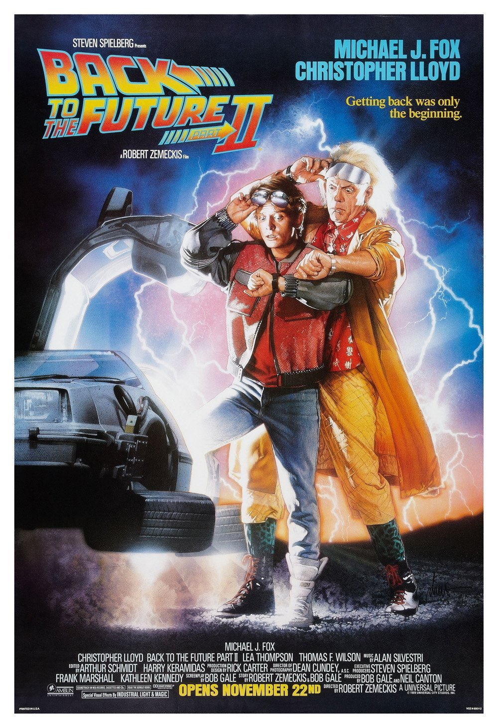 Back To The Future 2 Film Poster Print Back To The Future