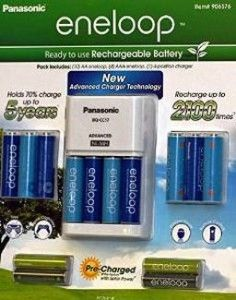 Battery Pack Of The Day Panasonic Eneloop Kit 10 Aa 4 Aaa 4thgen Batteries And Charger Flashlight Packs Rechargeable Batteries Aaa Battery Charger Battery Pack