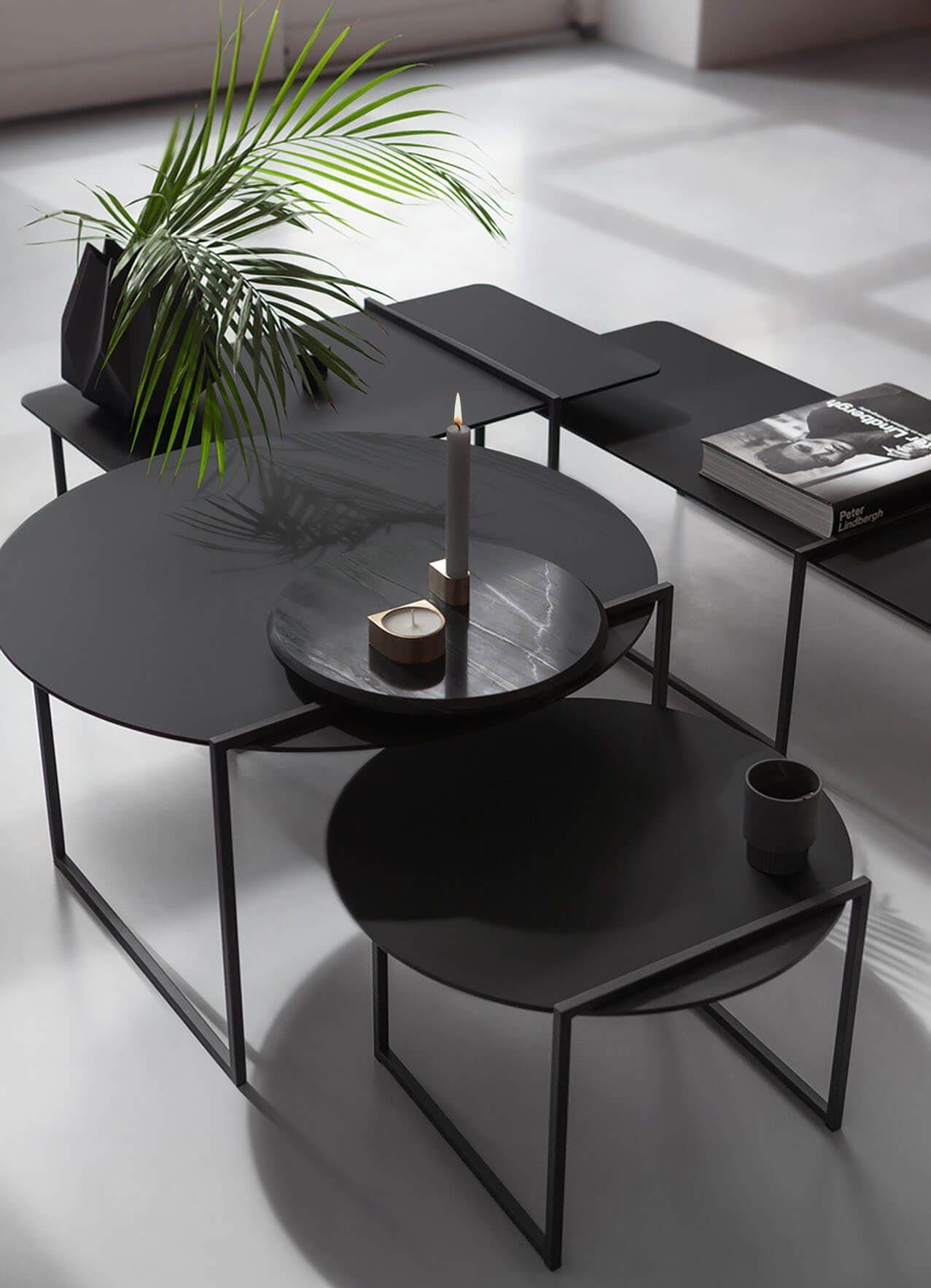 Stitch Side Table By Marc Th Van Der Voorn Archello Couchtisch Rund Couchtisch Schwarz Couchtisch Styling