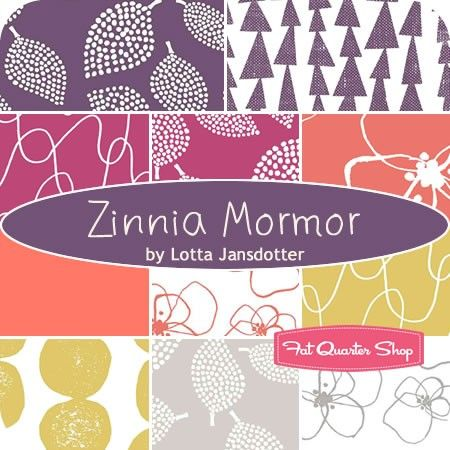 Zinnia Mormor Fat Quarter Bundle Lotta Jansdotter for Windham Fabrics