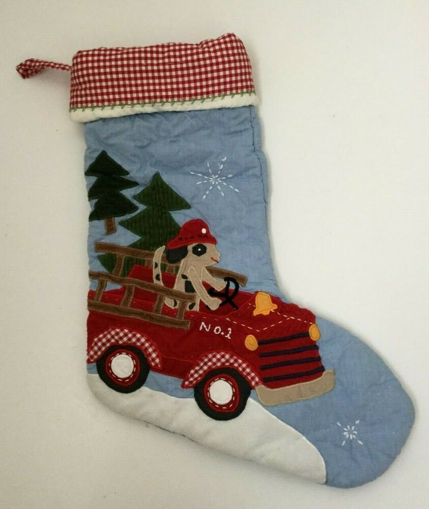 Details About Pottery Barn Kids Christmas Stocking Dog