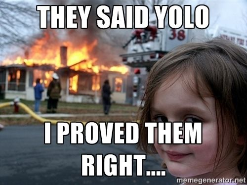 "When The News Reporter Asked The Little Girl For A Statment, Her Reply Was:             ""It Seemed Alot Easier When I Tried To Cook On My Easy - Bake -Oven...... YOLO""."