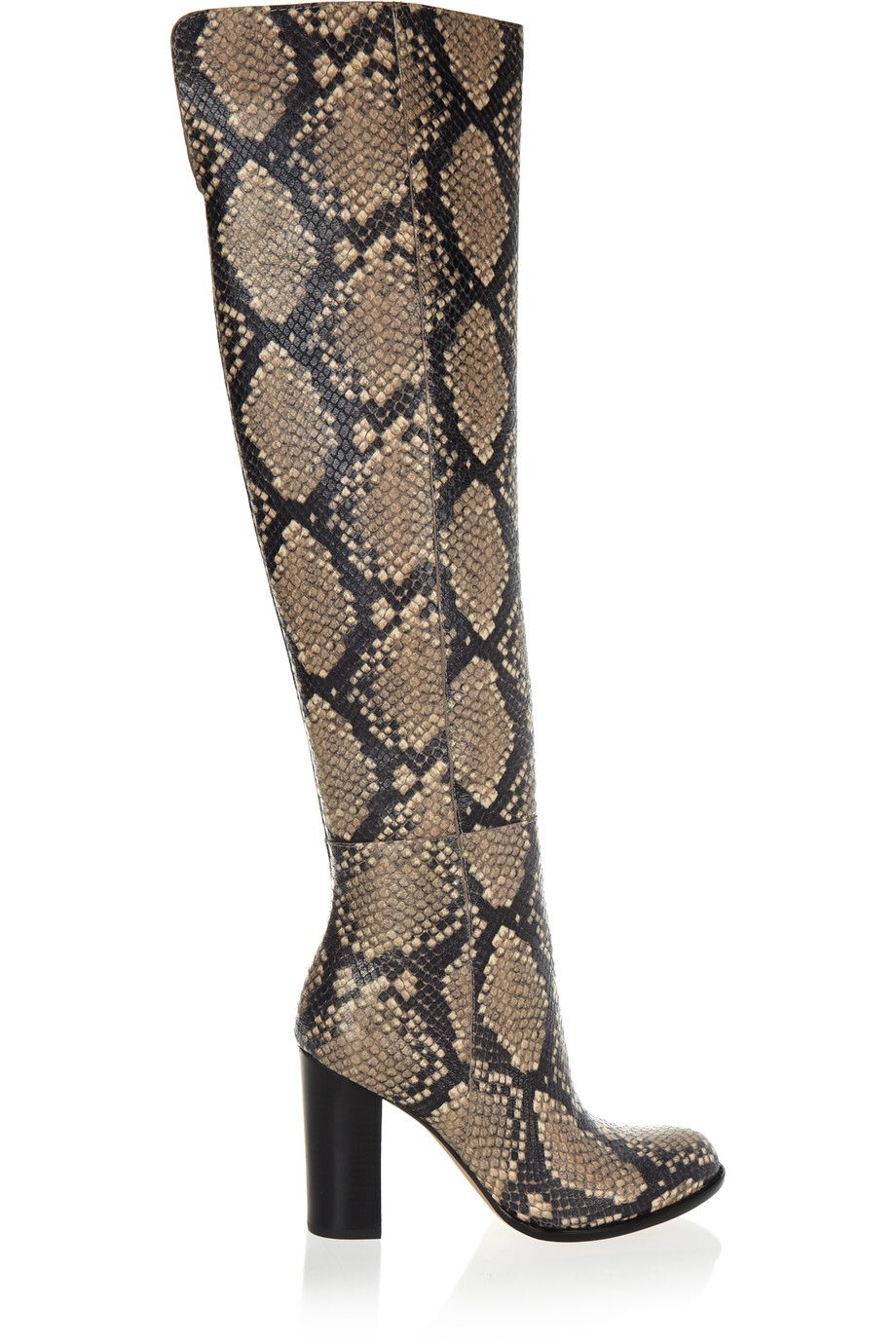 1e08e09944a SAM EDELMAN RYLAN SNAKE-EFFECT LEATHER OVER-THE-KNEE BOOTS  125 http