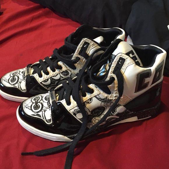 Coach High Top Sneakers Black/white Coach High Top