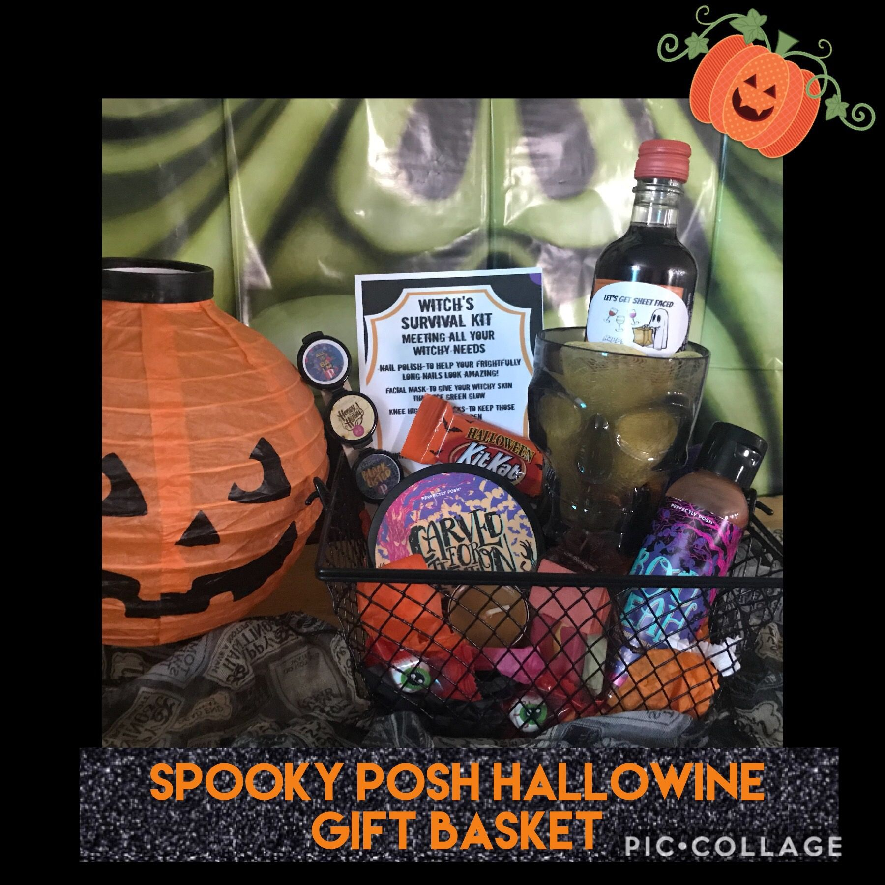 Perfectly Posh Hallowine Spooky Basket $55 #spookybasket