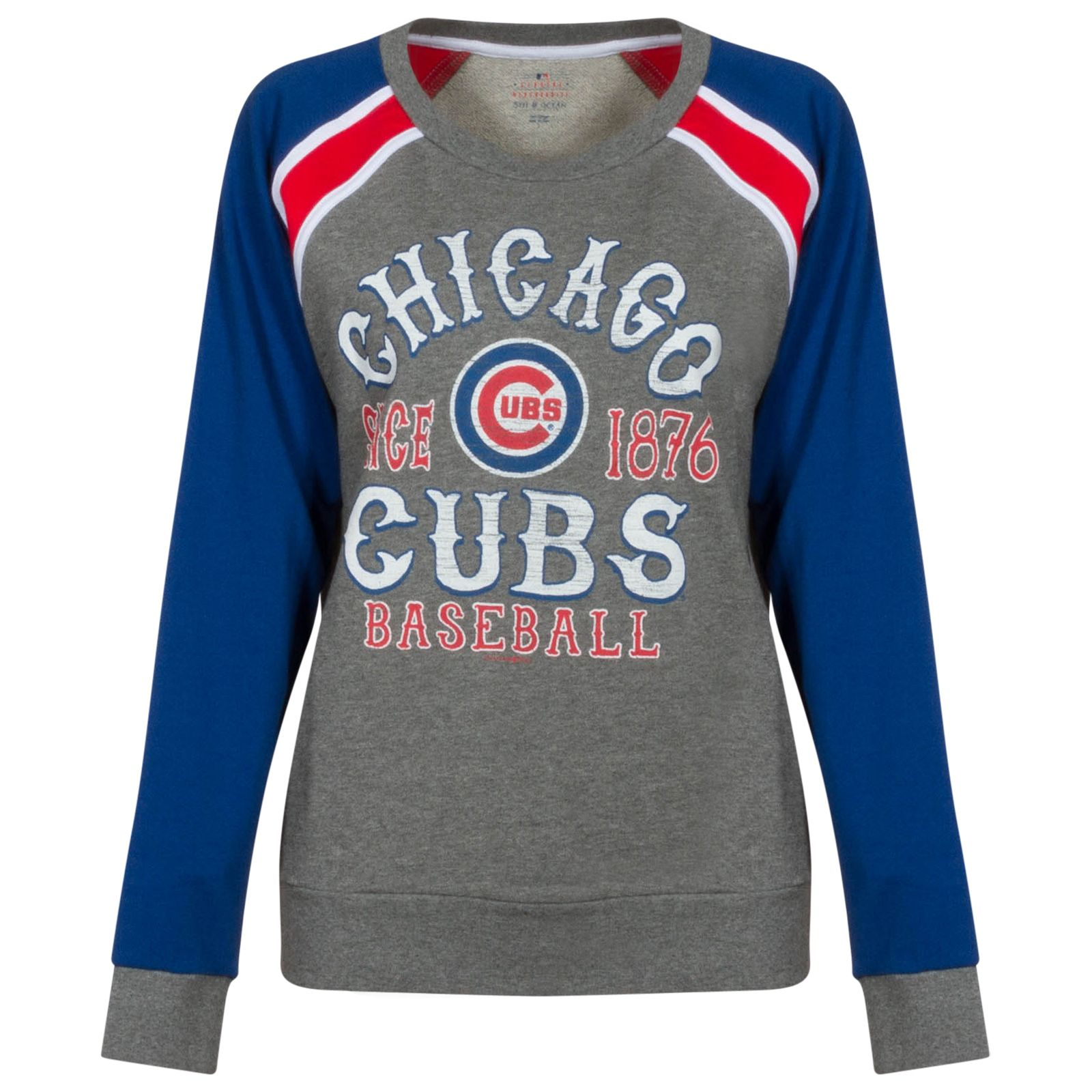 hot sale online 214a0 4a850 Chicago Cubs Women's Grey, Red, White, and Royal