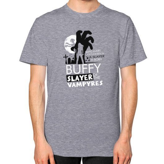 Buffy slayer Unisex T-Shirt (on man)