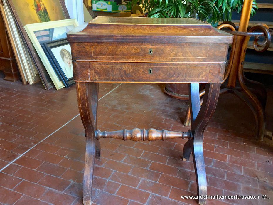 Tavolo Da Lavoro Antico : Mobili antichi tavoli e tavolini antico tavolino da lavoro in