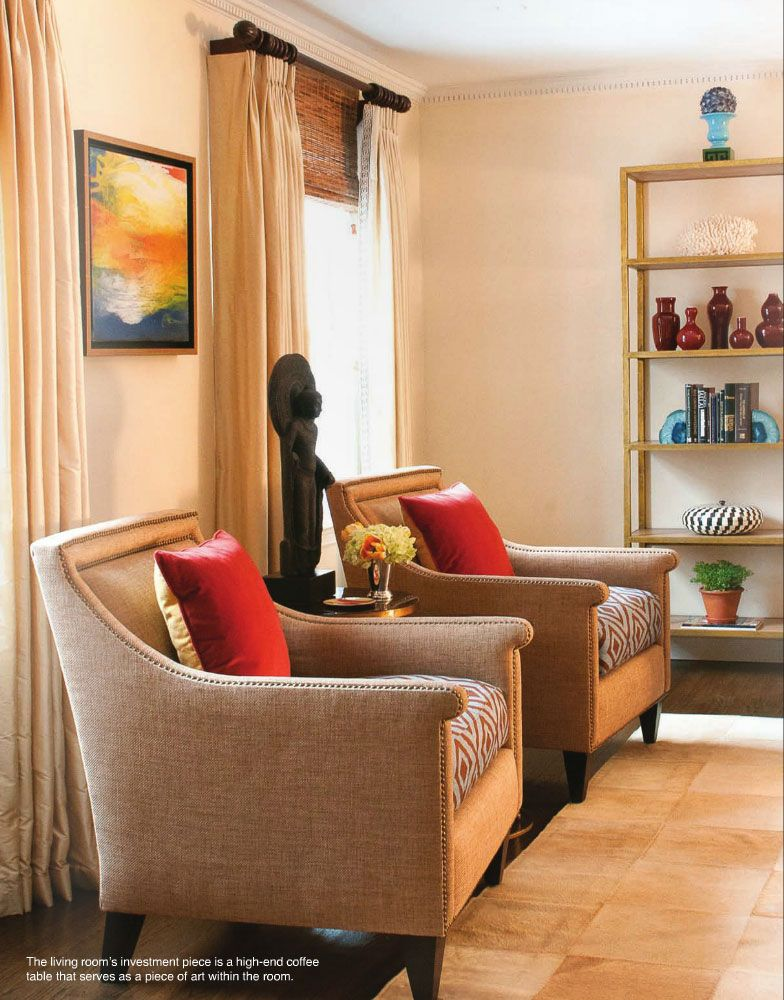My living room in East Coast Home + Design! Love the chairs ...