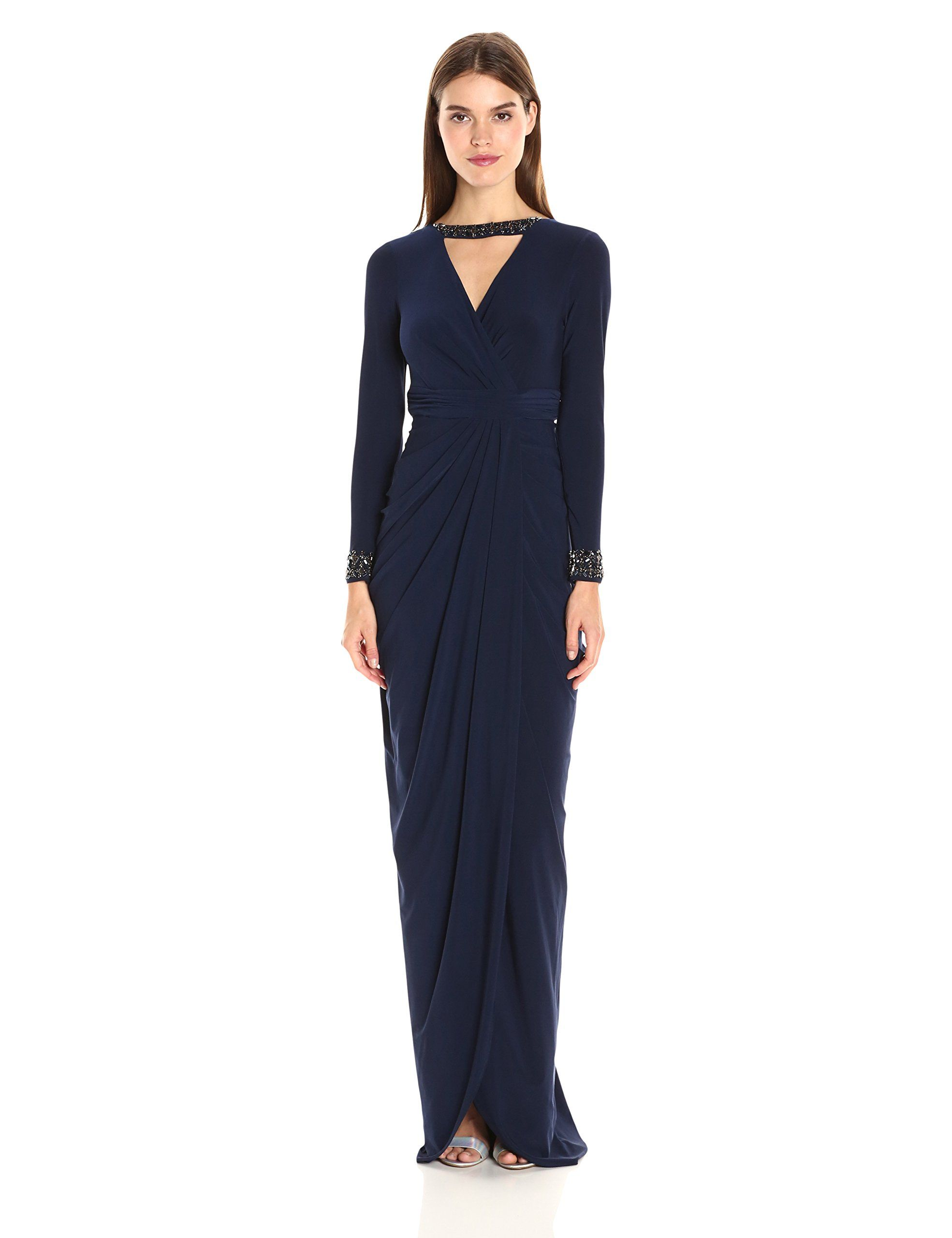 Macys - Adrianna Papell Elbow-Sleeve Contrast Lace Dress