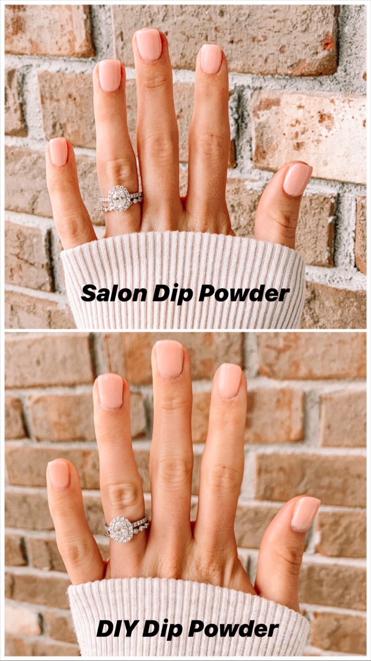 Diy dip powder nails in 2020 dip powder nails gel