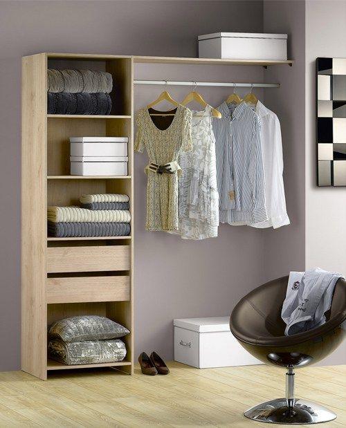d co des id es pour emm nager un dressing dans une. Black Bedroom Furniture Sets. Home Design Ideas