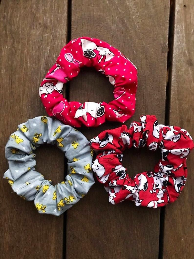 Black And white Snoopy Scrunchie Snoopy scrunchie Scrunchie Peanuts Scrunchie
