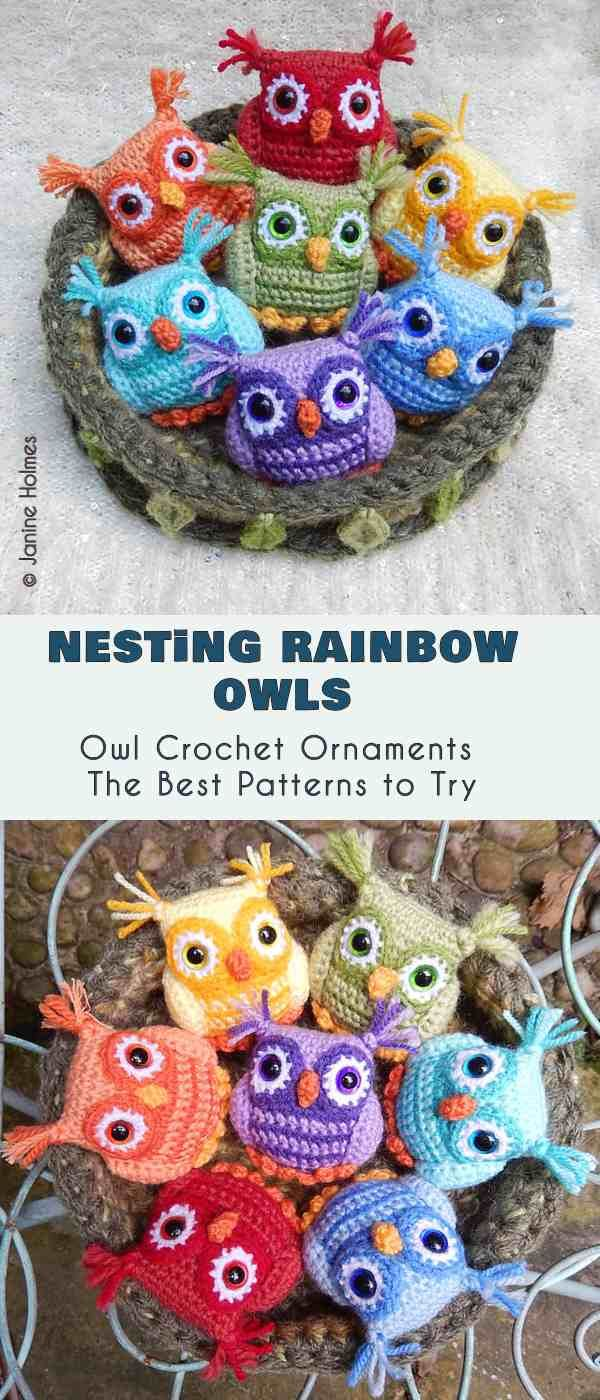 Owl Ornaments The Best Crochet Patterns | Crochet | Pinterest ...