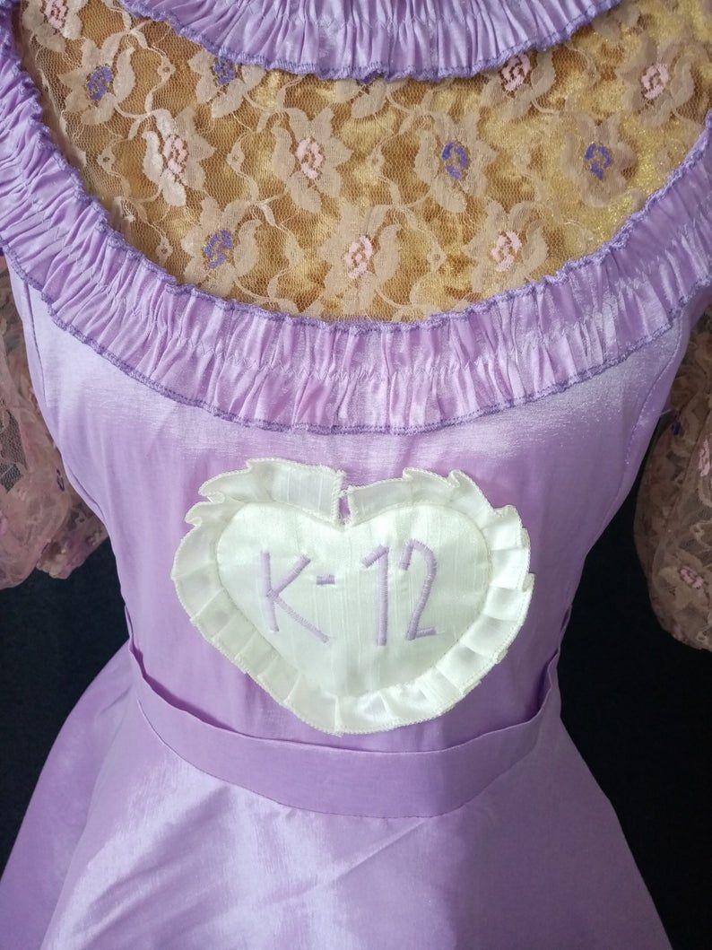 Melanie Martinez K 12 School Uniform Dress Costume Crybaby Etsy Melanie Martinez Uniforme Bordado