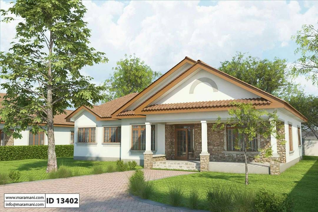 A Home With A Raised Covered Verandah At The Front That Provides Extra Outdoor Space For Relaxati Bedroom House Plans Contemporary House Plans New House Plans