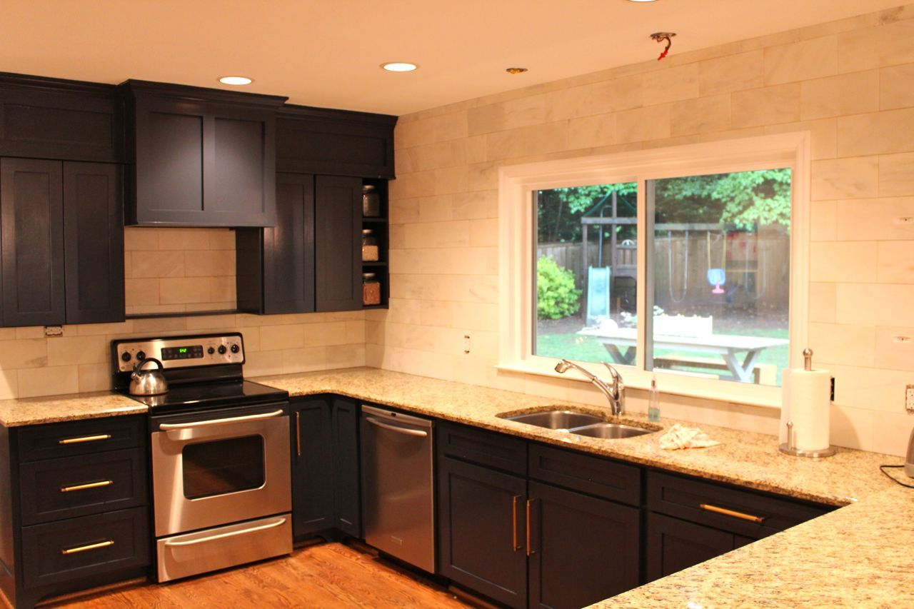 Remove Soffit Above Sink And Get A Larger Window Kitchen Kitchen Inspirations Above Kitchen Cabinets