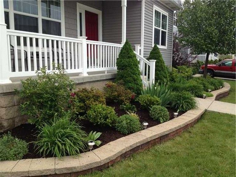51 Smart Ideas To Make Evergreen Landscape Garden On Your Front