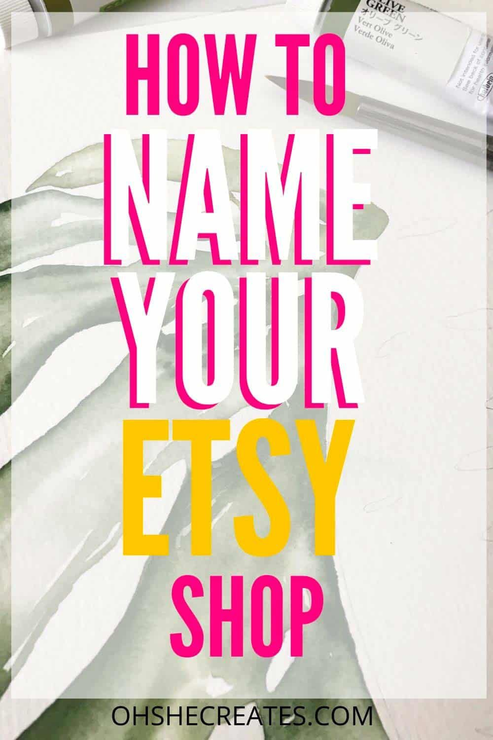 How to name your Etsy shop in 2020 Etsy shop, Etsy shop
