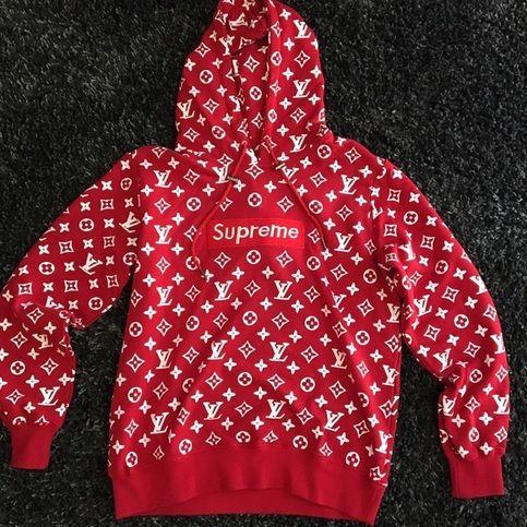 Supreme x Louis Vuitton Box Logo Hoodie