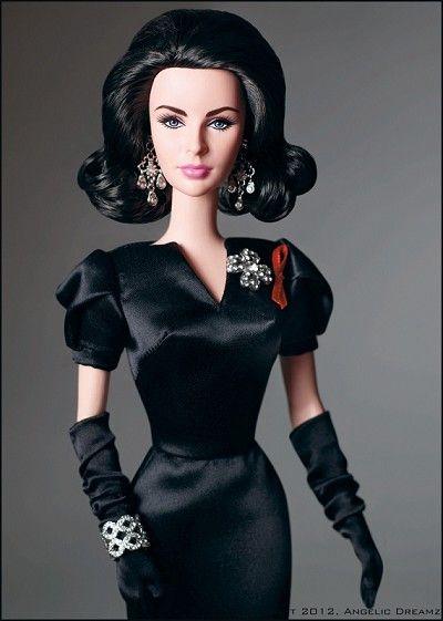 Elizabeth Taylor Barbie   Violet Eyes