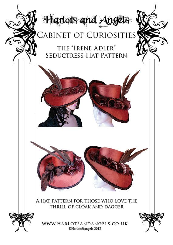 Irene Adler Victorian Buckram Hat Millinery Sewing Pattern ...