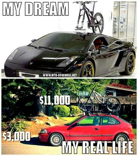 Expectation Vs Reality Bike Meme Mountain Biking Funny