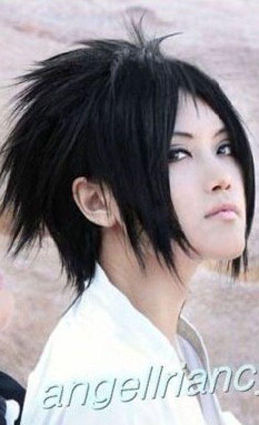 Stylish Short Naruto Uchiha Sasuke Cosplay Hair Wig Hairnet Natural Hair Wigs Cosplay Hair Wig Hairstyles
