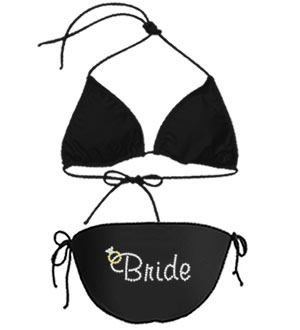 Personalized Rhinestone Bride Bathing Suit