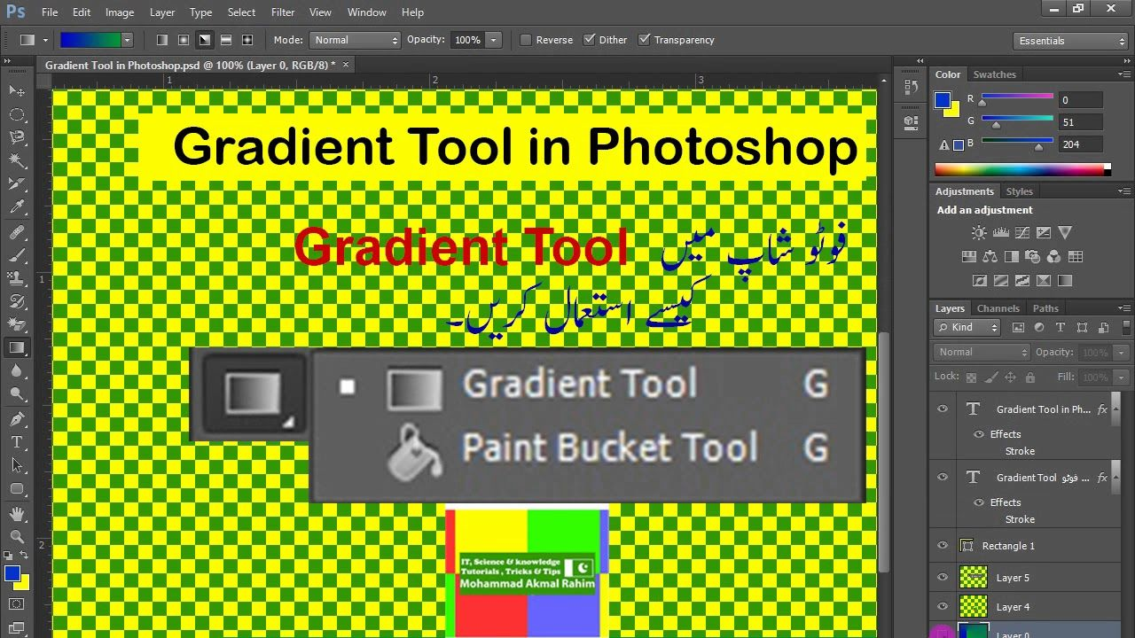 How To Use The Gradient Tool In Photoshop Paint Bucket Tool On Photoshop Paint Buckets Photoshop