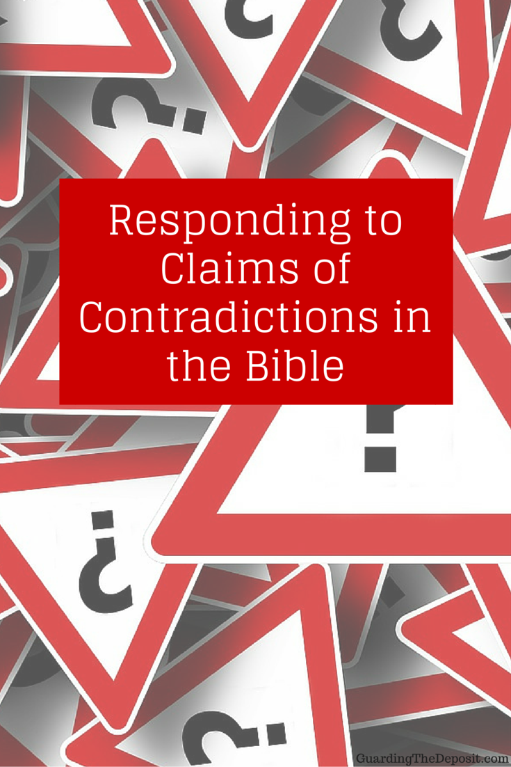 Responding to claims of contradictions in the bible