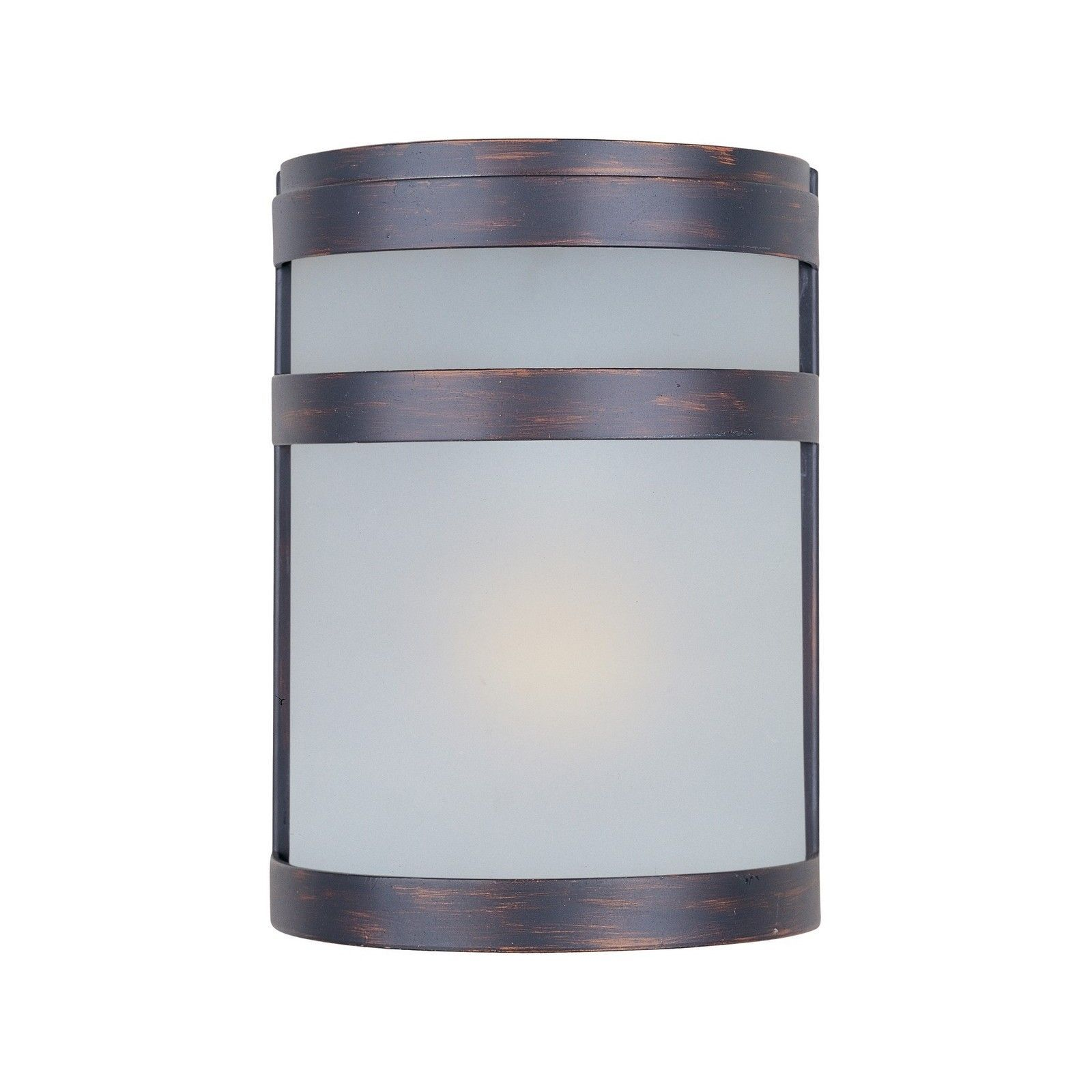 Maxim bronze stainless steel frosted shade arc ee light outdoor