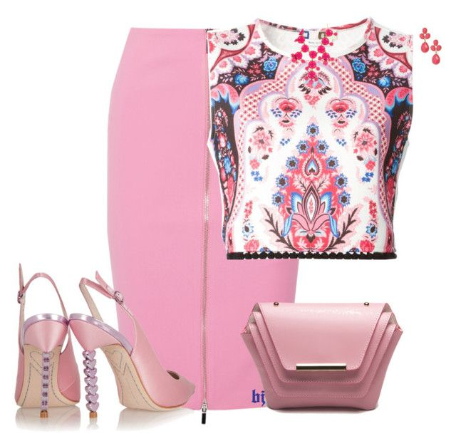 """""""Pink is the Spring!"""" by jacksondobe ❤ liked on Polyvore featuring Elizabeth and James, MSGM, Ellia Wang, Sophia Webster, Natasha Accessories and Erica Lyons"""