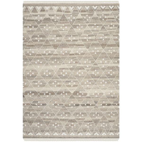 Safavieh Hand Woven Natural Kilim Ivory Wool Rug 8 X 10 Nkm316b Size