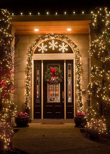 Front Door, Christmas 2009 Winter Wonderland Pinterest Tiempo