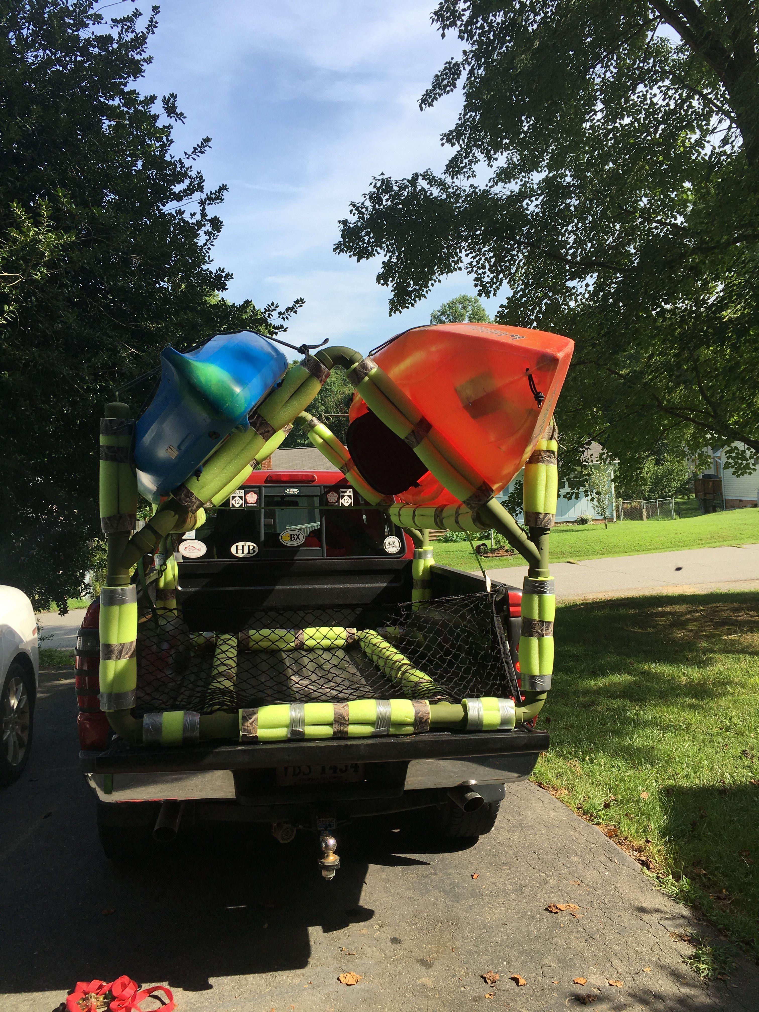 Diy pvc kayak rack kayakrack diy kayak storage kayak