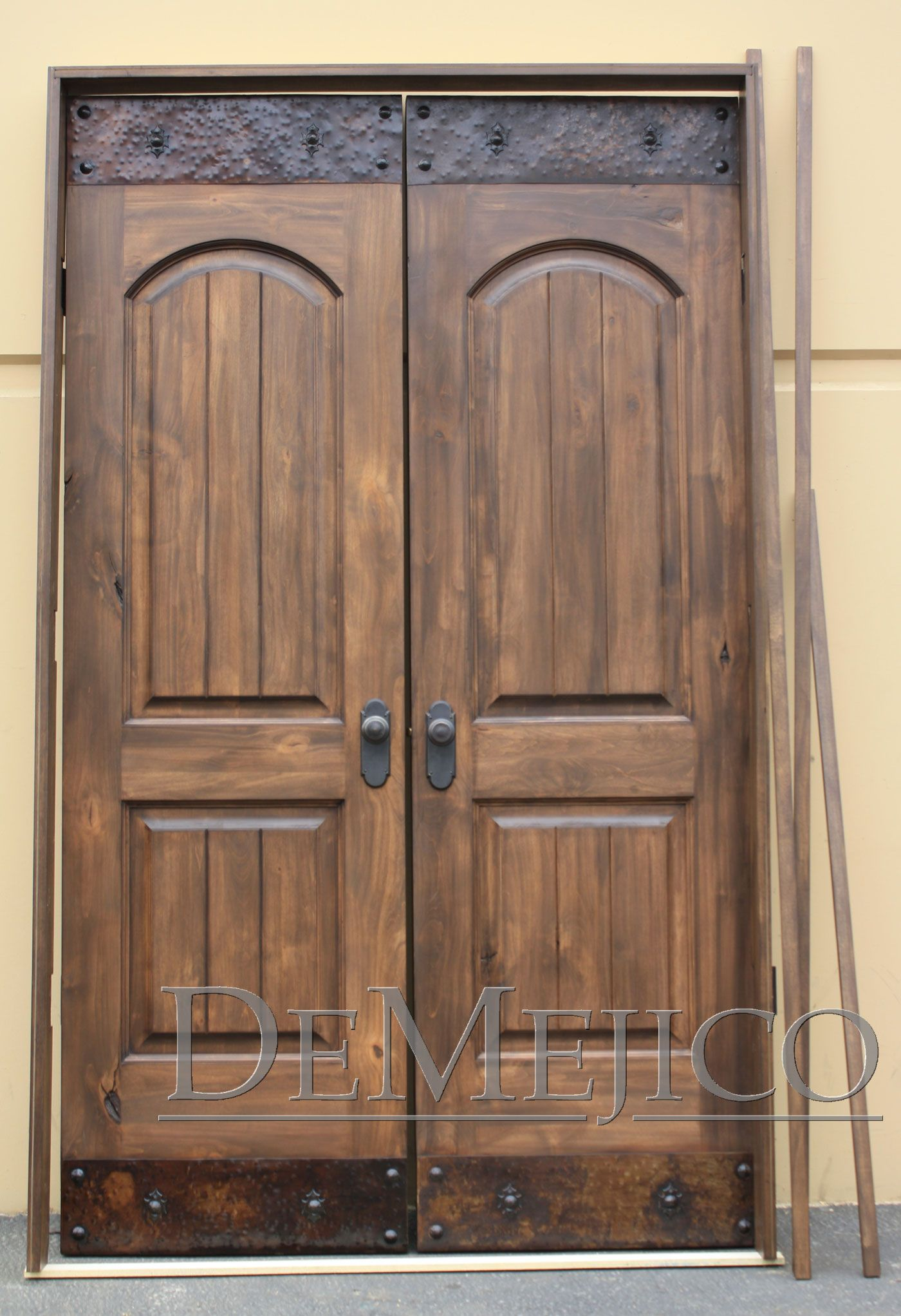 Rustic double front door - Exterior Captivating Image Of Rustic Farm Home Exterior And Front Porch Decoration Using Solid Mahogany Wood Double Fiberglass Entry Door And Cherry Wood