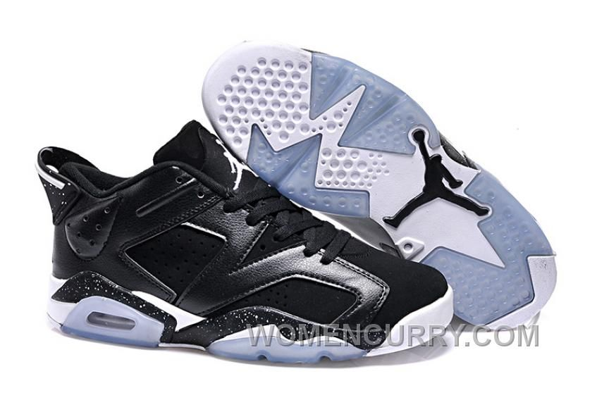"90012f627b1 Girls Air Jordan 6 Low ""Black Oreo"" For Sale Cheap To Buy Ytff2p, Price:  $80.69 - Women Stephen Curry Shoes Online"