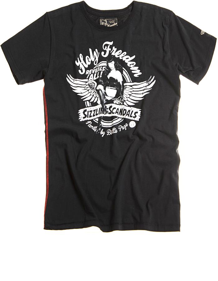 Holy Freedom Betty Black custom motorcycle t shirt  4ca83e3269b