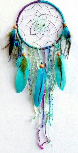 Purple and teal dream catcher, love it!