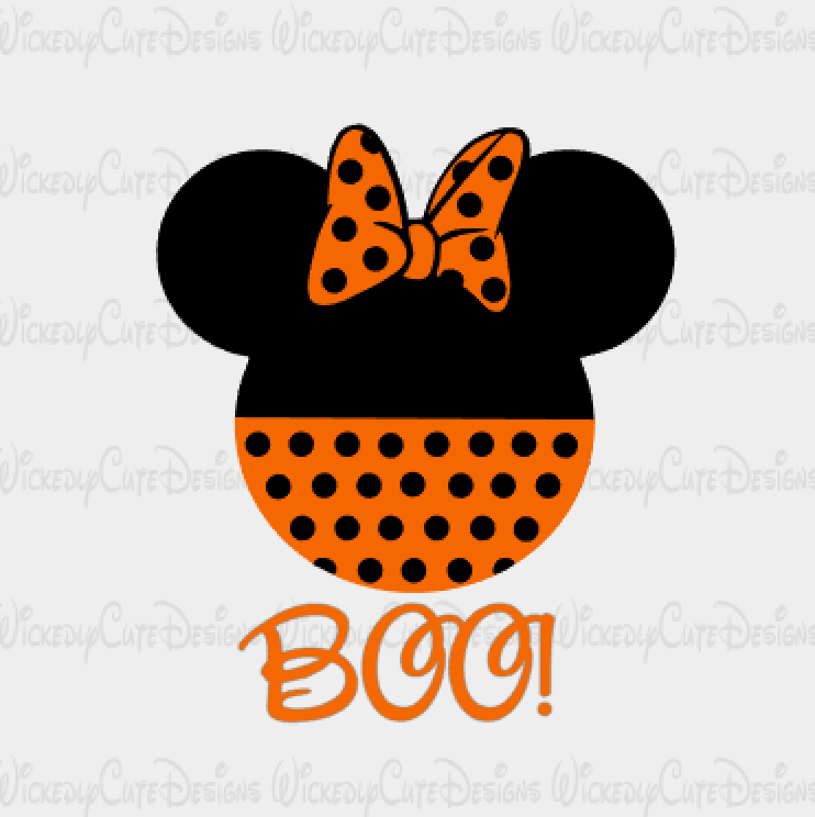Halloween Minnie Mouse Head Svg Dxf Eps Png Digital File Minnie Mouse Halloween Minnie Mouse Mickey Halloween