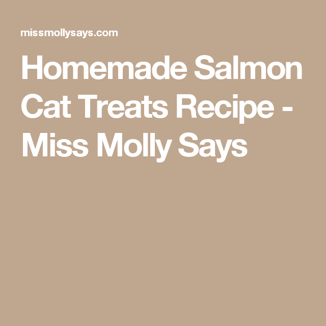 Homemade Salmon Cat Treats Recipe - Miss Molly Says