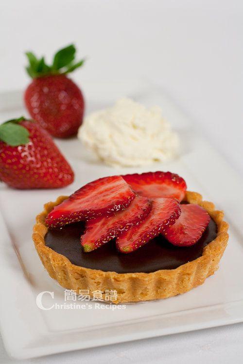 Chocolate Ganache and Strawberry Tarts from Christine's Recipes