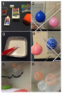 DIY Hanging String Orbs | 18 Simple Craft Projects for Renter's Room Decor | http://diyready.com/diy-room-decor-ideas-for-renters/
