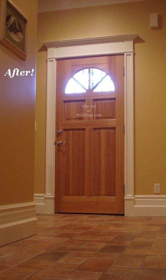 door trim before after victorian farmhouse door trim the joy of moldings - Exterior Door Trim Simple