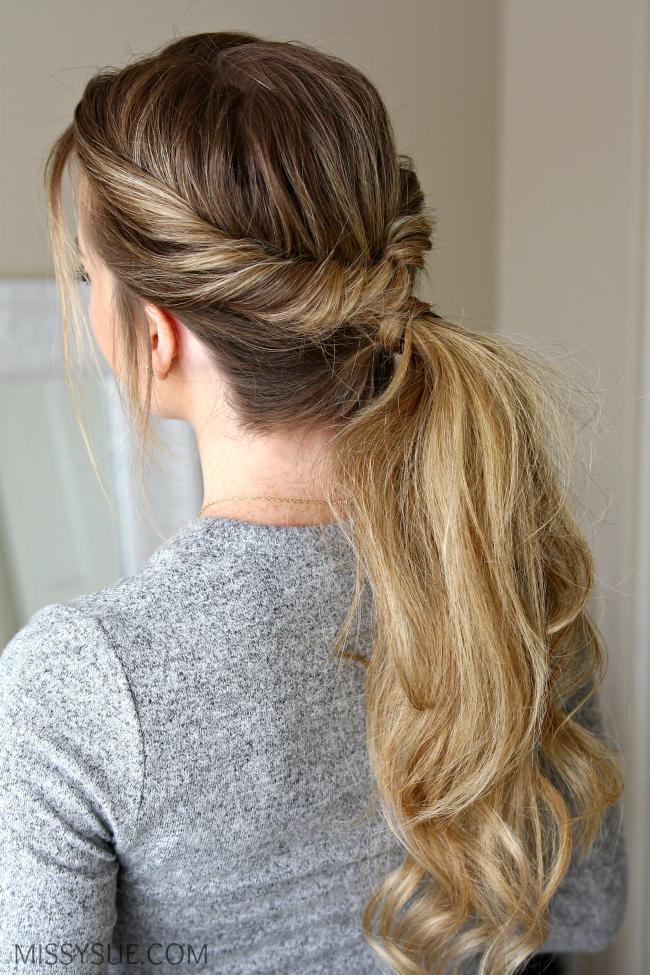 Everyday Flip Twist Ponytail Missy Sue Twist Ponytail Easy Hairstyles Hair Styles