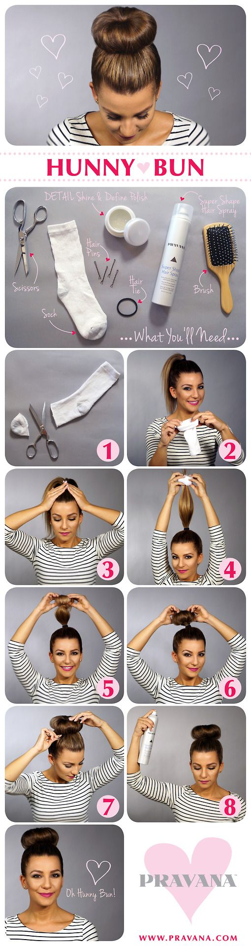 Tutorials cool and easy hairstyles sock buns bun tutorials and socks