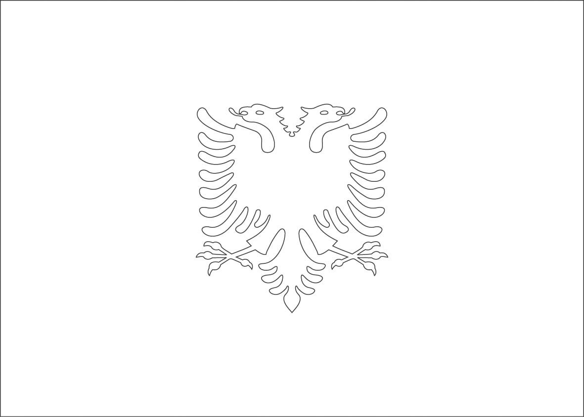 albania flag coloring pages | MFW ECC in 2018 | Pinterest | Flags ...