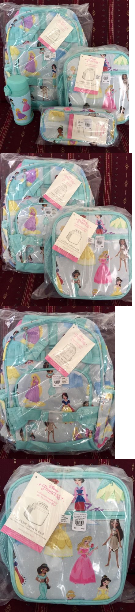 Backpacks 57917 Nwt Pottery Barn Disney Princess Backpack Lunch Bag Water Bottle Pencil Case