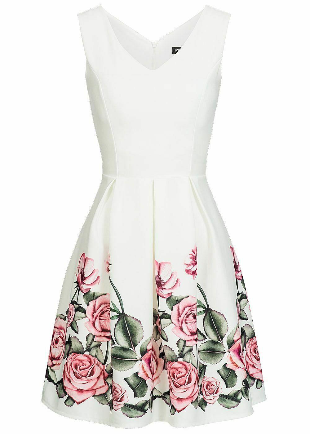 16% OFF B16 Damen Violet Kleid kurz geblümt mit Zipper